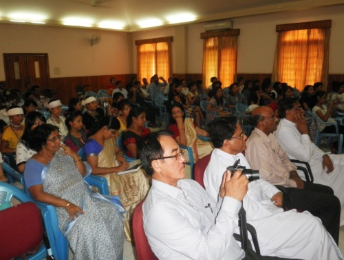 A section of the audience at the language skills concluding ceremony