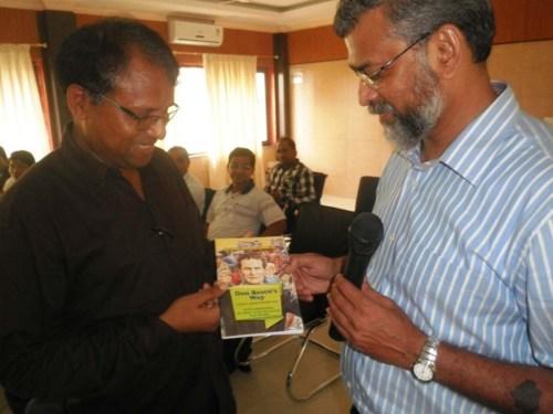 Program coordinator Fr Thomas Lakra with Prof. Gonsalves, at Guwahati.