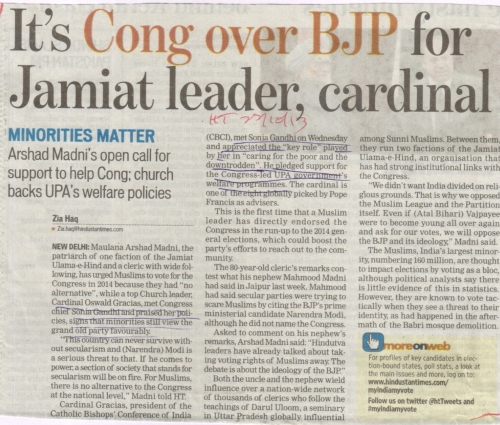 The Hindustan Times report dt 22/10/13