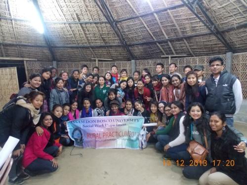MSW 1st Sem at Sapoi Bhutia Ali rural camp 2013