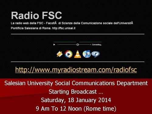 Salesian University Rome, Social Communications dept - STARTS WEB RADIO