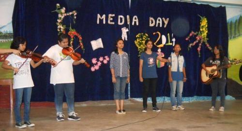 Media Club on stage