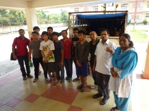 First batch of flood relief volunteers...