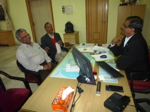 Dr Pawan Sharma and Prof. JN Vishwakarma withADBU  VC Dr Stephen Mavely.