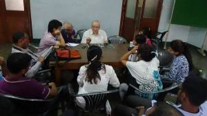 With Gaston Roberge at St Xavier's College, Calcutta.
