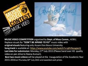 Dont be afraid to fly contest