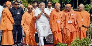 PM Modiji visiting Belur Math May 2015